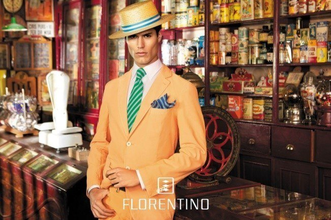 florentino-primavera-verano-2014-hombre-traje-naranja-pastel
