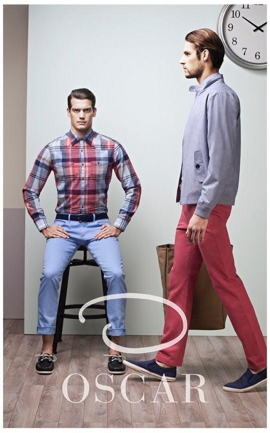 oscar-by-oscar-de-la-renta-hombre-primavera-verano-2014-camisa-cuadros-cazadora-pantalon-rojo