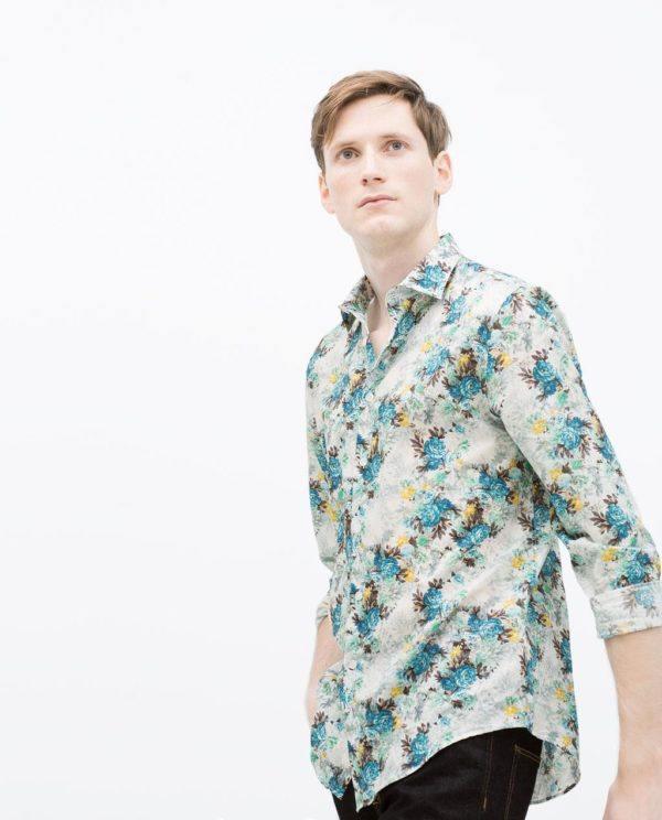 Rebajas-Zara-Hombre-Verano-2015-propuestas-camisa-estampada-flores