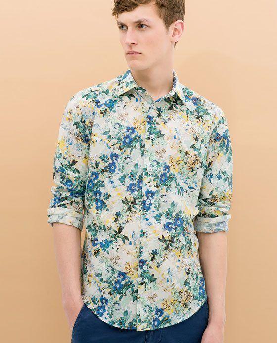 Tendencias camisas para hombre primavera verano 2015 for Zara mens floral shirt