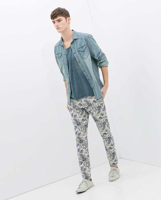 Tendencias Pantalones para hombre Primavera Verano 2015 Pantalon de flores