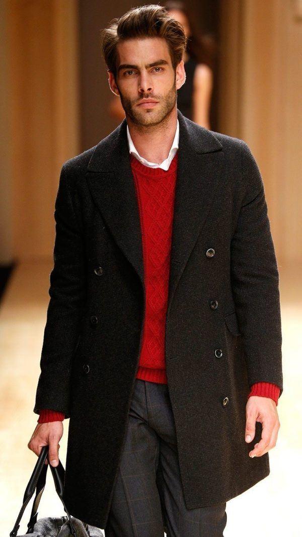 he-by-mango-otono-invierno-2014-2015-abrigo-doble-botonadura-jersey-rojo