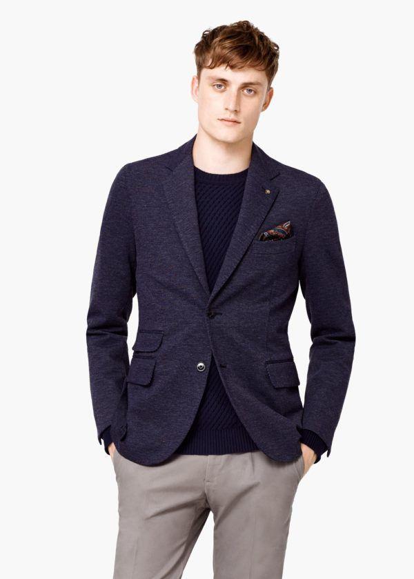 moda-americanasblazer-hombre-otono-invierno-2015-2016-tendencias-americana-azul-jaspeada-mango