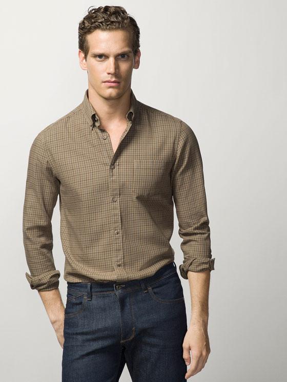 a8689faa0 tendencias-camisas-hombre-2016-camisa-cuadro-massimo-dutti