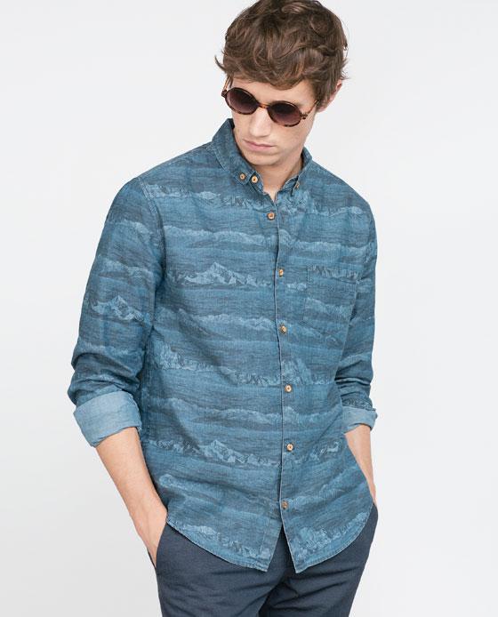 tendencias-camisas-hombre-2016-camisa-denim-zara-estampada