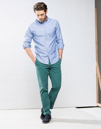 catalogo-cortefiel-2015-tendencias-moda-hombre-camisa-rayas-pantalon-verde