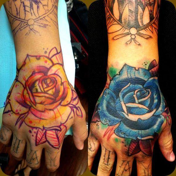 New school rose tattoos