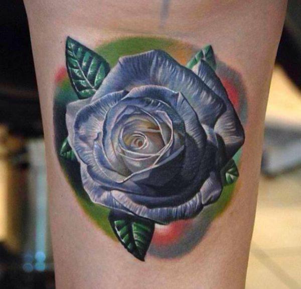 fotos-de-tatuajes-de-la-rosa-azul-rosa-efecto-3d