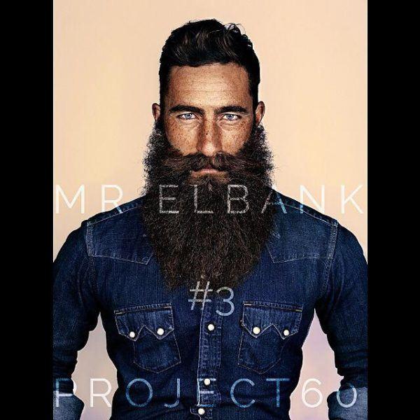 Barba con pelo corto o largo