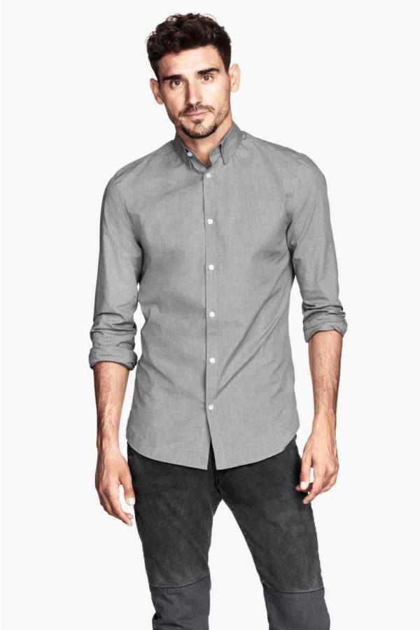 como-combinar-bien-el-gris-camisa-gris-de-h&m