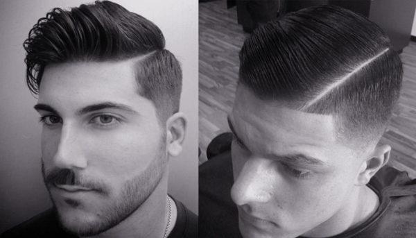 Corte de pelo hombre para el costado