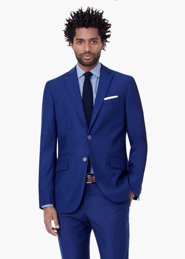 Moda Trajes Hombre Otoño Invierno 2015-2016 Tendencias TRAJE azul de Mango