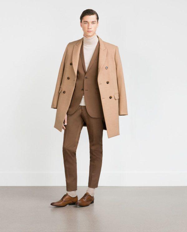 Moda Trajes Hombre Otoño Invierno 2015-2016 Tendencias TRAJE marron de zara