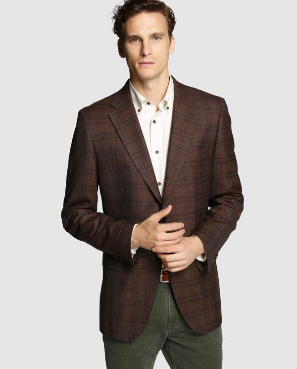 Grey Fashion Blazer Mens