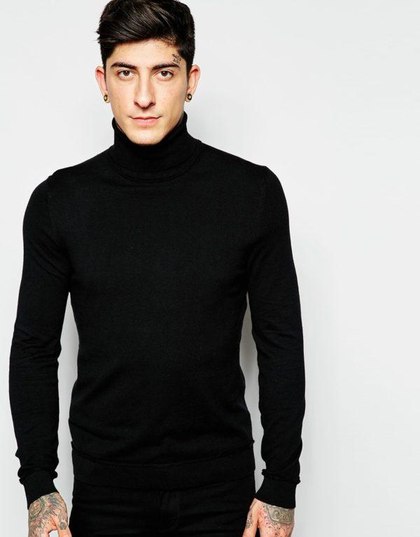 Jerseys para hombre de Moda Tendencias otoño Invierno 2015-2016 jersey cuello de cisne de asos
