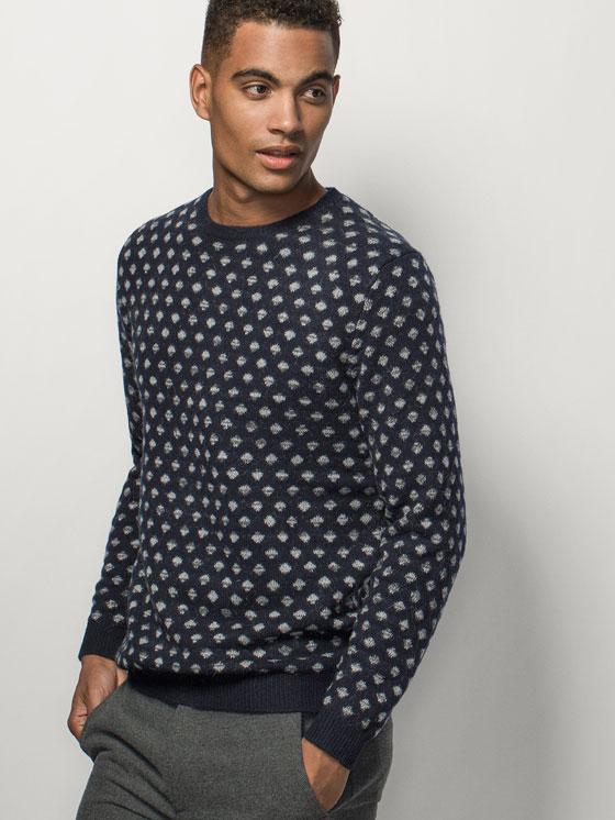 Jerseys y Sudaderas para hombre de Moda Tendencias otoño Invierno 2015-2016 jersey jaquard de mango