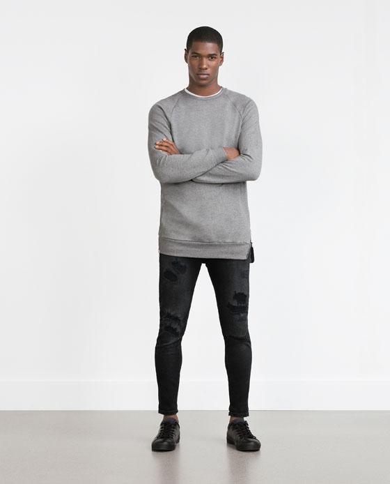 Jerseys y Sudaderas para hombre de Moda Tendencias otoño Invierno 2015-2016 sudadera larga de zara