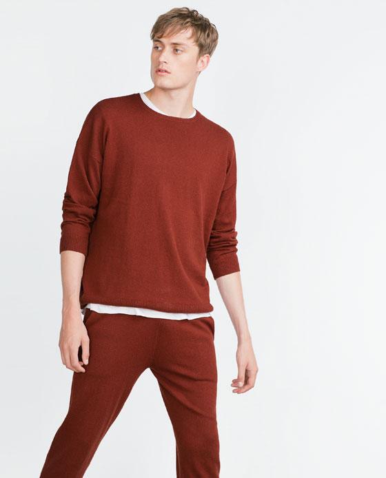 catalogo-zara-hombre-otono-invierno-2015-2016-jersey-oversize-rojo