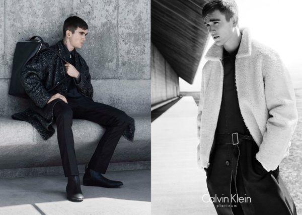 Catálogo Calvin Klein hombre otoño invierno 2015-2016-abrigo-pieles-blanco