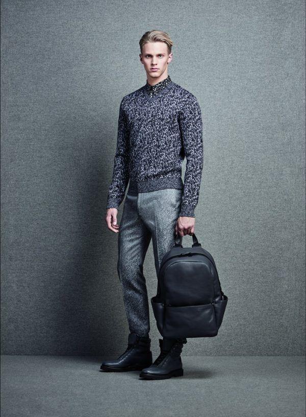 Catálogo Calvin Klein hombre otoño invierno 2015-2016-jersey-gris.estampado