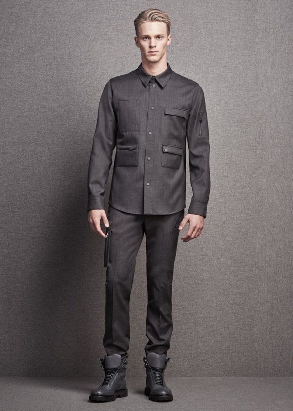 Catálogo Calvin Klein hombre otoño invierno 2015-2016-look-gris-camisa-multi-bolsillo