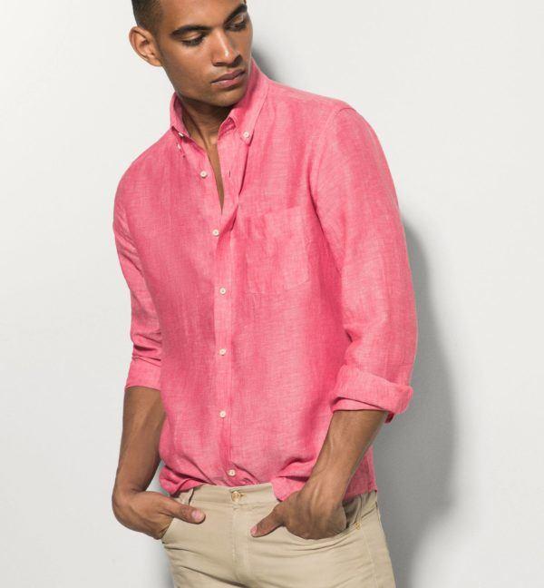 combinar-los-colores-de-la-ropa-camisa-coral-massimo-dutti