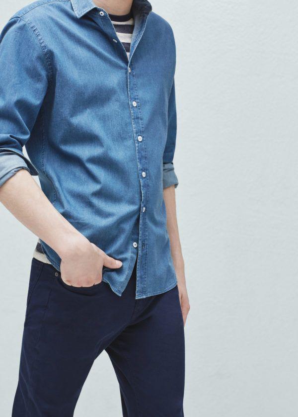 moda-camisas-hombre-2016-denim-chambray-lavada