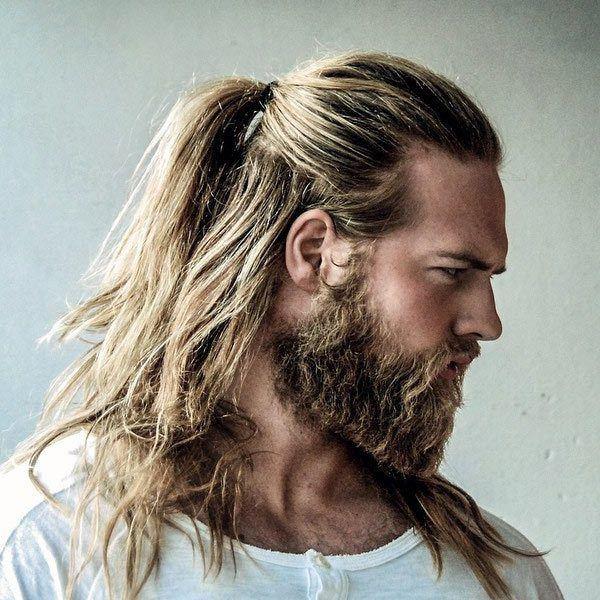 pelo largo hombres estilo hipster primavera verano estilo - Cortes De Pelo Largo Hombre