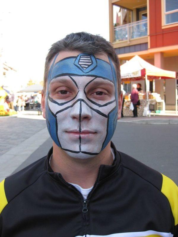 disfraz-transformer-halloween-maquillaje