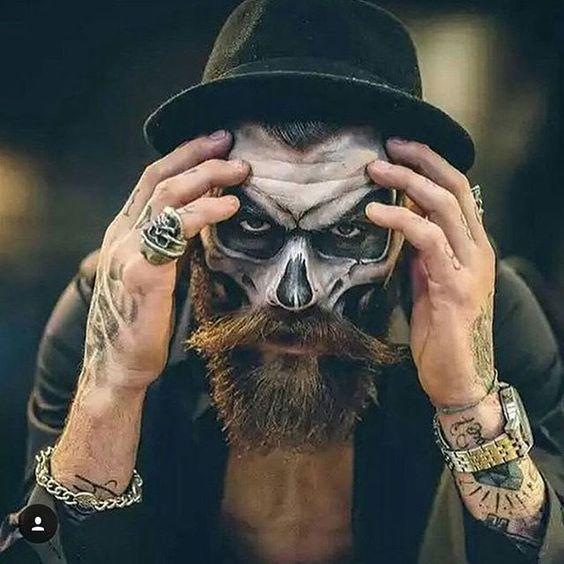 Maquillaje Halloween Con Barba Calavera Modaellos Com