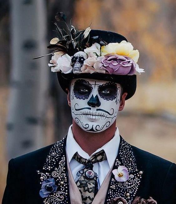 ests viendo una imagen del artculo fotos de maquillaje halloween para hombres