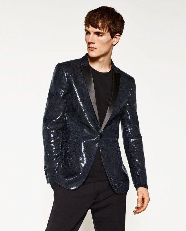 moda-hombre-navidad-2016-zara-blazer-lentejuelas-marino