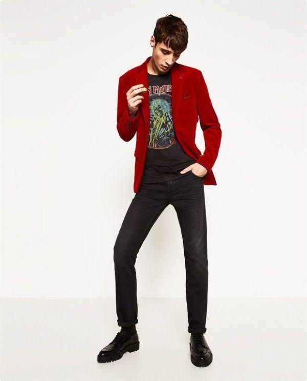 moda-hombre-navidad-2016-zara-blazer-terciopelo-rojo