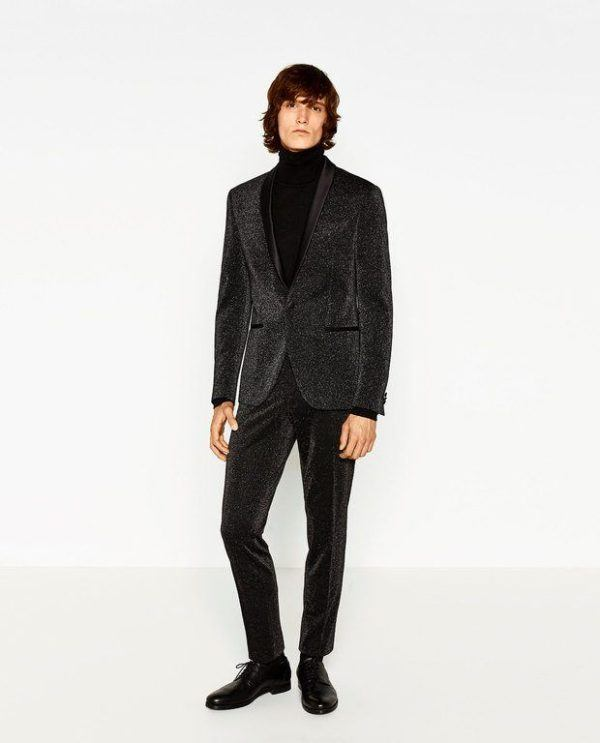 1be070cba8a15 moda-hombre-navidad-2016-zara-smoking-brillo Como este traje de fiesta ...