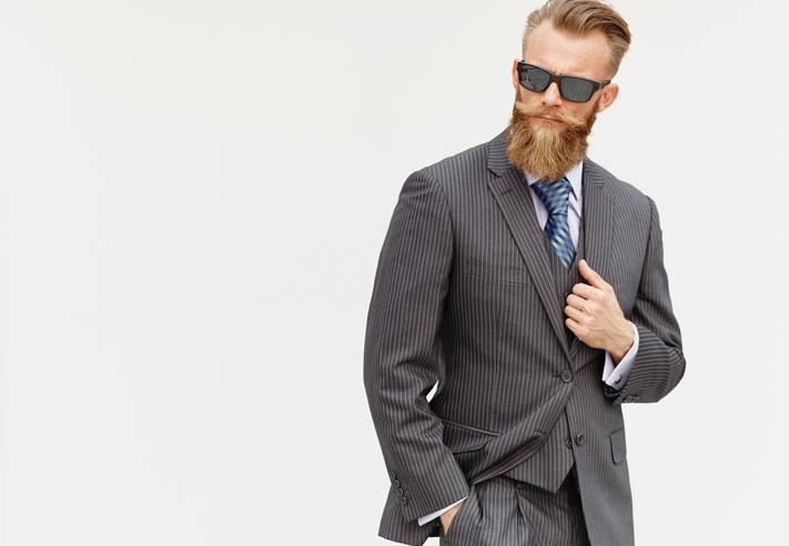 estilo hipster hombre gafas barba