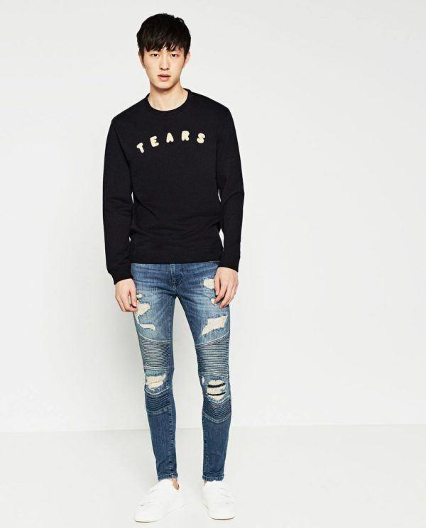 255233e8e7fba Moda Hombre Primavera Verano Pantalones Rotos De Zara