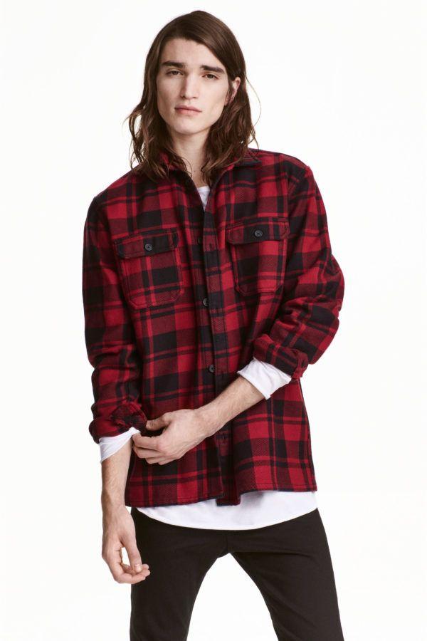 catalogo-hm-otono-invierno-2016-2017-tendencias-moda-hombre-camisa-cuadros
