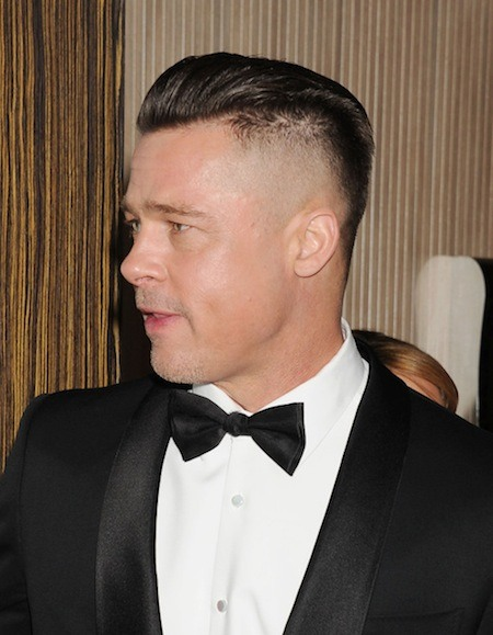 BEVERLY HILLS, CA- JANUARY 19: Actor/producer Brad Pitt arrives at the 25th Annual Producers Guild Awards at The Beverly Hilton Hotel on January 19, 2014 in Beverly Hills, California. (Photo by Jeffrey Mayer/WireImage) *** Local caption *** Brad Pitt 2