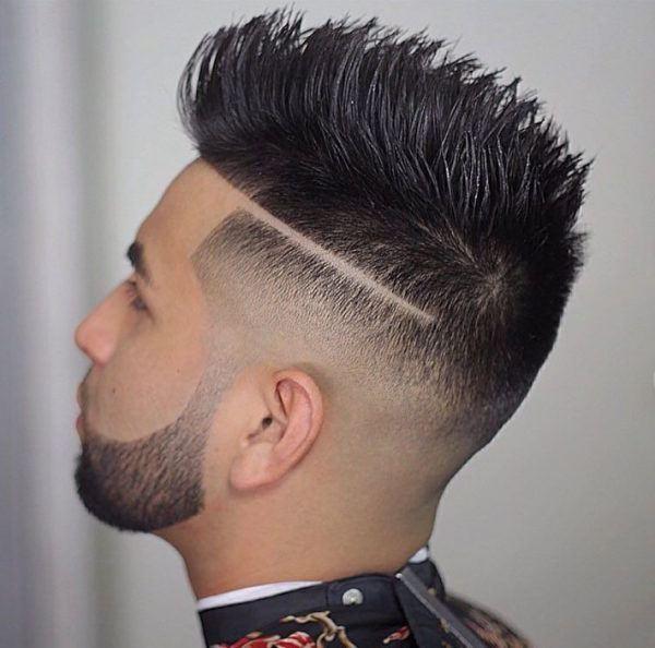 Imagen de corte de pelo con rayas