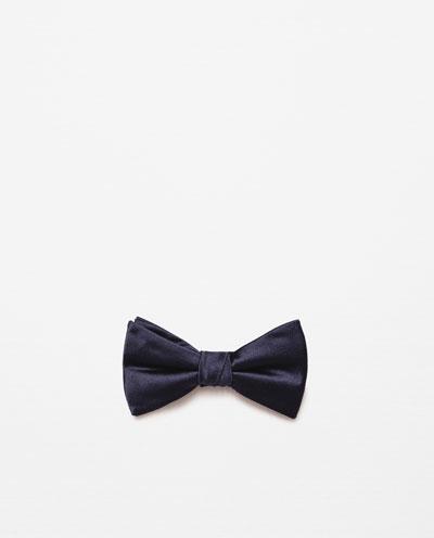 catalogo-de-corbatas-zara-pajaritas-negra-lisa