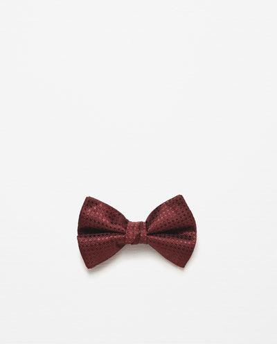 catalogo-de-corbatas-zara-pajaritas-roja-brillante