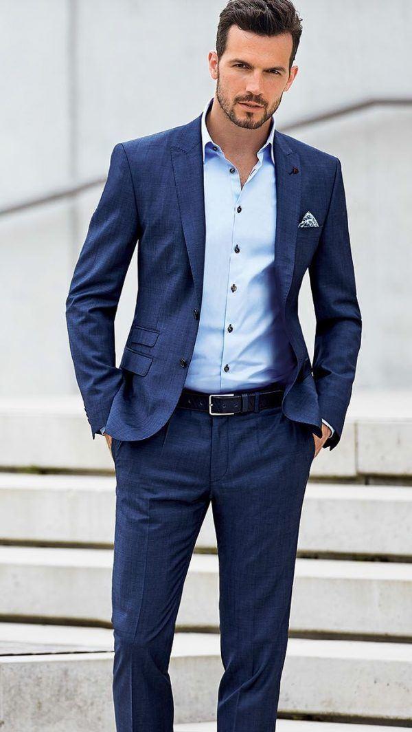 Cómo combinar un traje azul marino - Modaellos.com 18772ded998