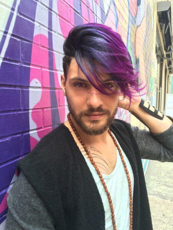 Fotos de pelo pintado de dos colores