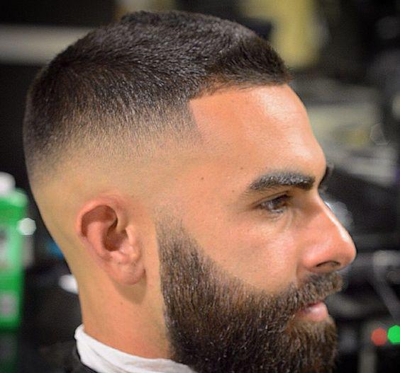 cortes-de-pelo-corto-hombre-degradado-con-barba