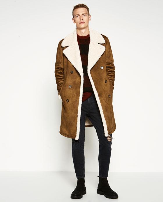 catalogos-tendencias-moda-hombre-otoño-invierno-2016-2017-abrigo-zara-borrego