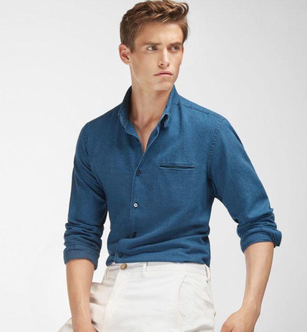 catalogos-tendencias-moda-hombre-otoño-invierno-2016-2017-camisa-denim-massimo-dutti