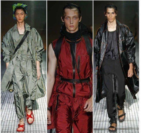 a441f02f2da41 ... las estrellas en las prendas de sport masculinas. Tejidos metalizados y  anchos en colores verdes