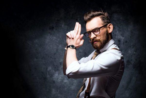 Estilo hipster hombre gafas de ver