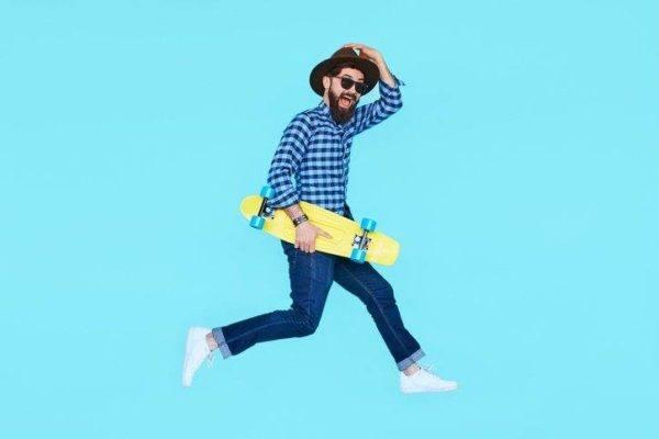 Estilo hipster hombre sombreros de paja