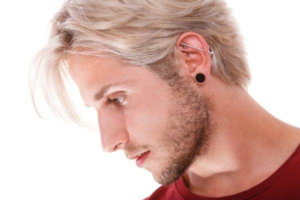 Disenos de piercing para hombres pendientes alargados para la oreja